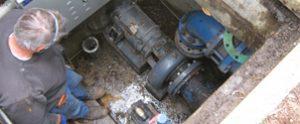 clogged pond pump, pond emergency, pond equipment, pond construction, pond maintenance